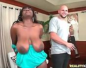 Breasted Black Slutie In Action 1